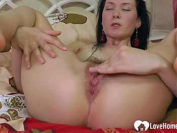 Hot lonely teacher plays with her wet cunt