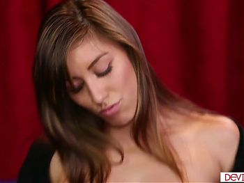 Hairy pussy brunette blowjobs then licked and fucked hard